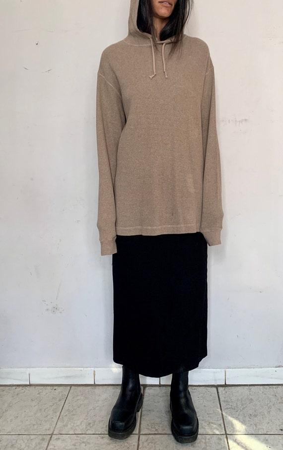 Cotton Oversized Sweater, Horchata