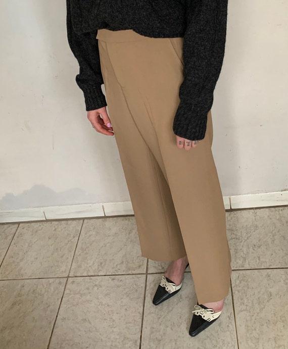 Beige Silk Trousers - image 3