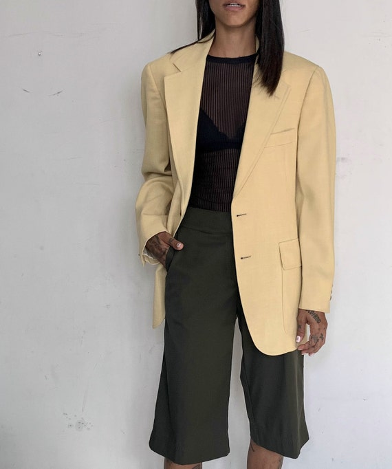 Wool Oversized Blazer, Custard
