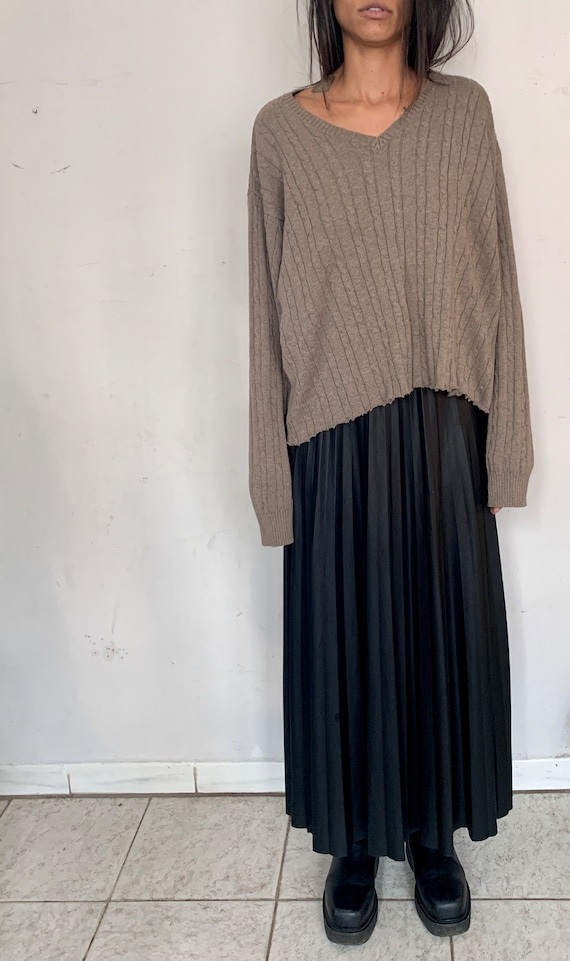 Distressed Cotton Oversized Sweater