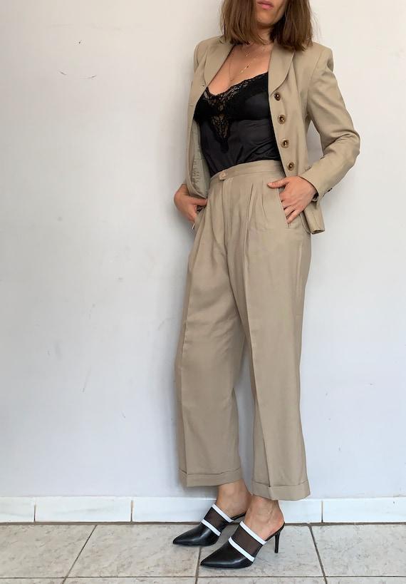 Beige Linen Safari Suit - image 1
