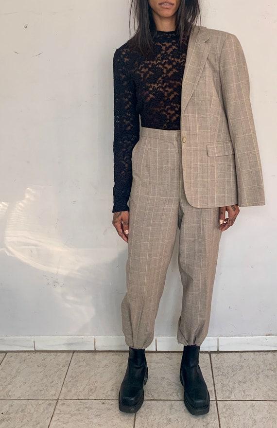 Cotton/Linen Plaid Suit