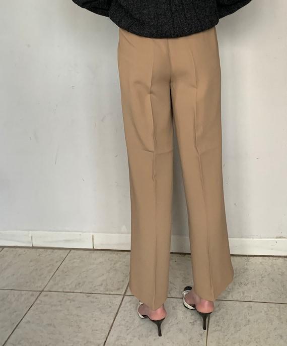 Beige Silk Trousers - image 5