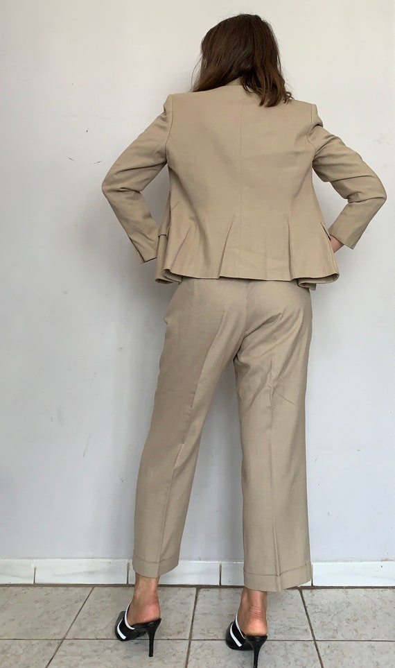 Beige Linen Safari Suit - image 6