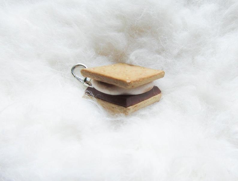 Cute Stitch Marker Charm Clasp Charm Polymer Clay Smores S/'mores Polymer Clay Charm