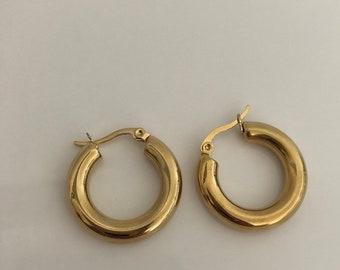 ea26e73a7 Thick hoop earrings   Etsy