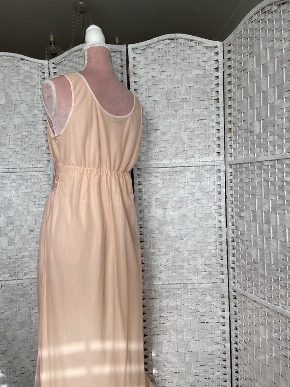 vintage 1960s/cottagecore dress/spring/flower emb… - image 8