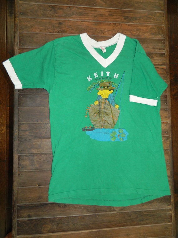 Vintage Keith Super fisherman Pollock T Shirt