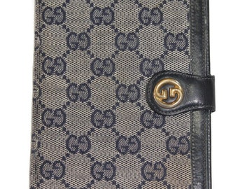 6969f200195 1980s Vintage Gucci Monogram wallet or passport or notebook