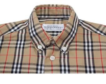 04c17a5a5 Burberrys Vintage Shirt Nova Check