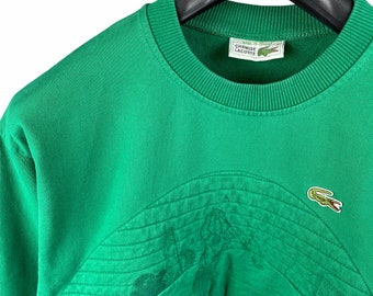 Lacoste Chemise 1990s Embroidered Sweatshirt Green Logo