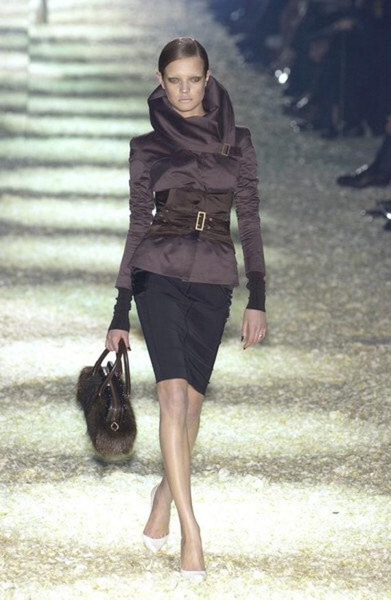 Gucci FW2001 Midi Silk Skirt Era Tom Ford