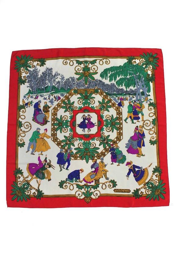 Hermes Paris Vintage Silk Scarf