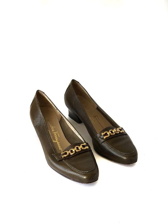 Salvatore Ferragamo Vintage Kitten Heels