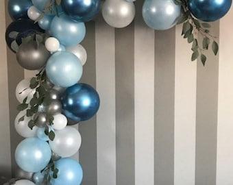 1st Birthday Boy Balloon Garland Kit First Hot Air Balloons Banner
