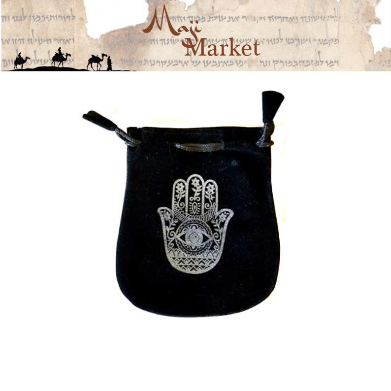 Hamsa Velveteen Bag