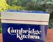Vintage Cambridge Kitchen Metal Recipe Box