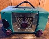Mid Century Gumby Green Zenith Radio