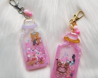 Bunny smartphone Shaker Keychains