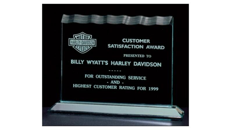 Performance Award Achievement Award Custom Polished Jade Acrylic Award w Acrylic Base Custom Engraving Retirement Gift Corporate Award