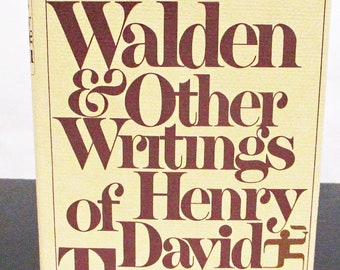 Walden & Other Writings of Henry David Thoreau Modern Library Hardcover w/ Dust Jacket