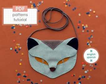 Cat bag. PDF patterns + tutorial (INSTANT download). English and Spanish texts.