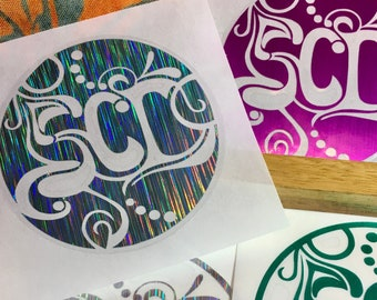 The SCIkedelic Logo Incident | Handmade Holographic String Cheese Decal (Single)