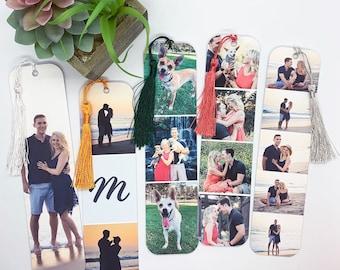 Personalize Bookmark, Photo Bookmark, Custom Bookmark, Laminated Bookmark, Collage Bookmark, Bookmark Tassels, Bookmark Set, Small Gift