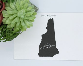 Greetings from New Hampshire - Greeting Cards, Postcards, New Hampshire Stationery, Snail Mail, Greeting from States, New Hampshire, Letters