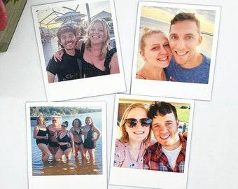 Personalized Photo Polaroid Magnets - Custom Photo Magnets, Polaroid Magnets, Fridge Magnets, Personalized Polaroid Magnets, Gifts Under 10