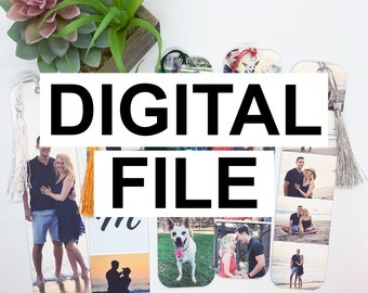 Digital Photo Bookmark Template, Digital Canva Template, Bookmark Canva, Printable Bookmarks, Downloadable Photo Bookmarks, Personalized