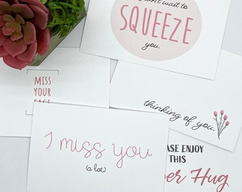 Miss You Greeting Cards/Postcards  (SET OF 10)