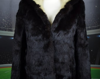 0d9627a751f Coney rabbit jacket dark brown (10) fur woman leather ladies exclusive posh  coat 90s 80s vintage retro