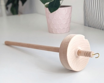 Wooden Drop Spindle - Top Whorl