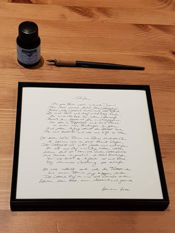 Handgeschriebenes Gedicht Stufen Von Hermann Hesse
