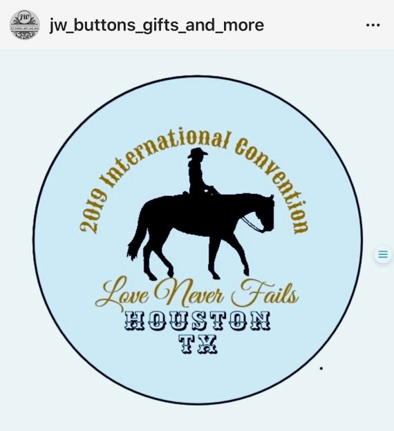 Houston Texas or Phoenix AZ Cowboy International Convention Gift  Love  Never Fails 2019 English or Spanish  Blue or Brown Background