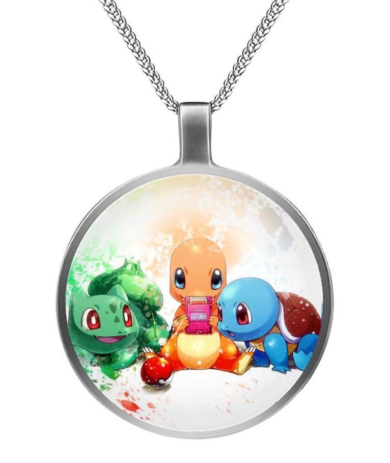 New Pokemon Keystone Mega Stone Necklace Pendant Cosplay Charm Anime Jewelry
