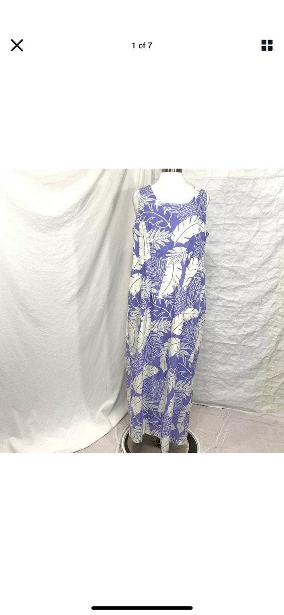 Vintage Hilo Hattie Hawaiian maxi dress 2X