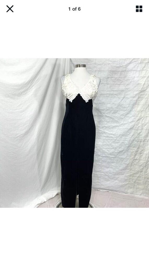 Vintage Scott McClintock Velvet Lace Gown