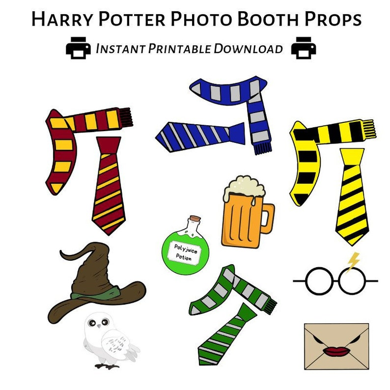 photograph relating to Harry Potter Printable Props known as Harry Potter Photobooth Printable Props - Instantaneous Down load - Do-it-yourself - Picture Booth Prop