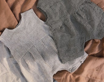Linen Baby Romper | Romper PDF Patterns | Baby Girl & Boy Romper | Easy Romper Pattern | Sewing pdf Patterns
