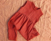 018 Easy Baby Jumpsuit Sewing Pattern Baby Boy Romper Baby Girl Romper Size 0 - 6 years Linen Wide Leg Vintage Baby Pattern