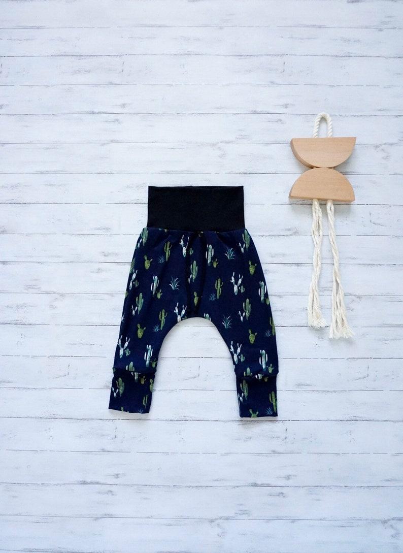 baby harem pants Navy blue cactus pants unisex kids harem pants