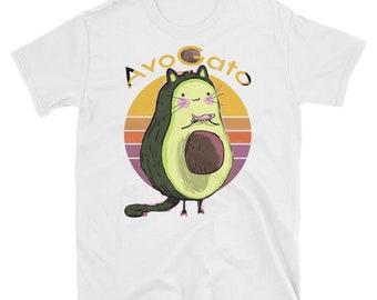 181af7d49d Cute Cat T Shirt, Mens Avocado T Shirt, Mens Cat T shirt, Cat Lover Gift, Funny  Shirt For Men, Cat Lady Gift, Funny Cat Shirt, AvogatoShort-