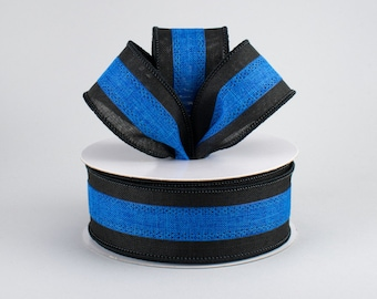 "Blue Lives Matter 7//8/"" Grosgrain Ribbon ~YOUR CHOICE Police Support 5 or 10"