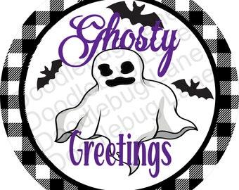 Ghost Halloween Sign Halloween Ghost Sign Metal Ghost Sign Small Halloween Sign