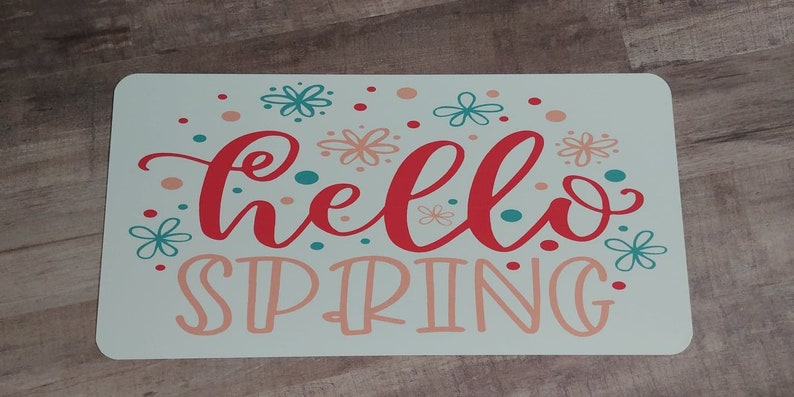 Spring Decor Hello Spring Custom sign Metal Wreath Sign Welcome Sign