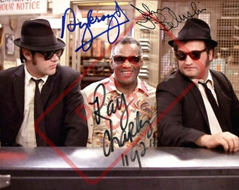 8.5x11 Autographed Signed Reprint RP Photo Picture Print  Group Cast Movie The  Blues Brothers with Dan Aykroyd 7bd003bb530f
