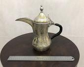 Syrian Islamic Arabic Handmade Engraved Copper Brass Dallah Coffee Pot