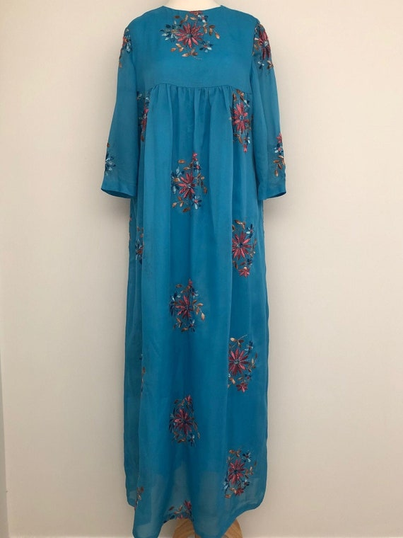 Vintage 1970's Handmade Embroidered Kaftan